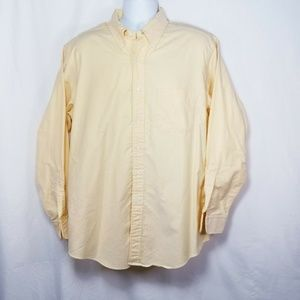 Brooks Brothers Mens 17 - 35 Solid Yellow EUC